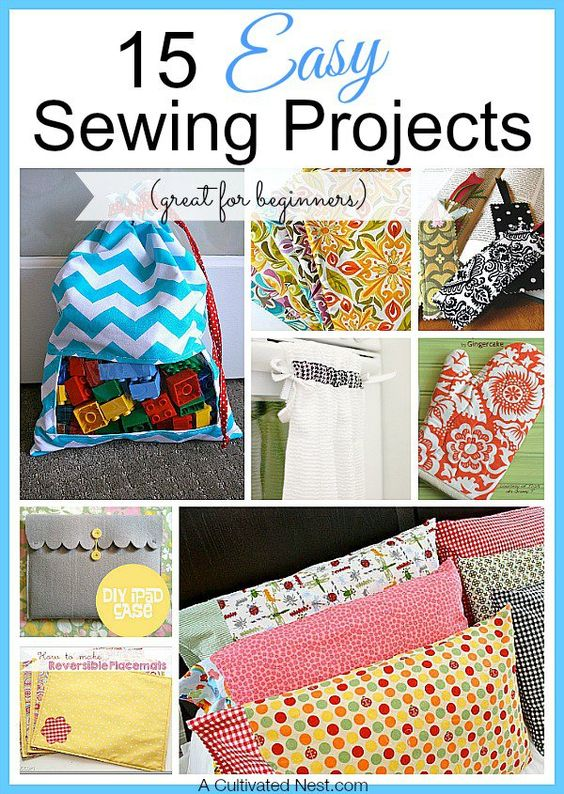 Sewing is a timeless & highly useful skill! If you're a beginner it can be hard to narrow down all the projects you see to find one you'll actually finish. Here are 15 Easy Sewing Projects to get you started!: