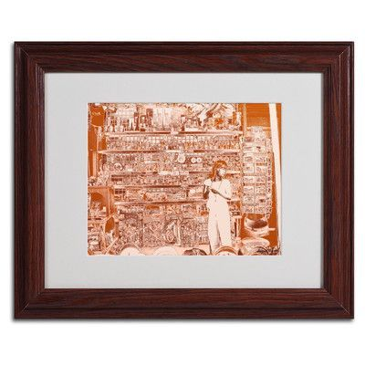 """Trademark Art """"Lil Italy III"""" by Miguel Paredes Framed Painting Print"""