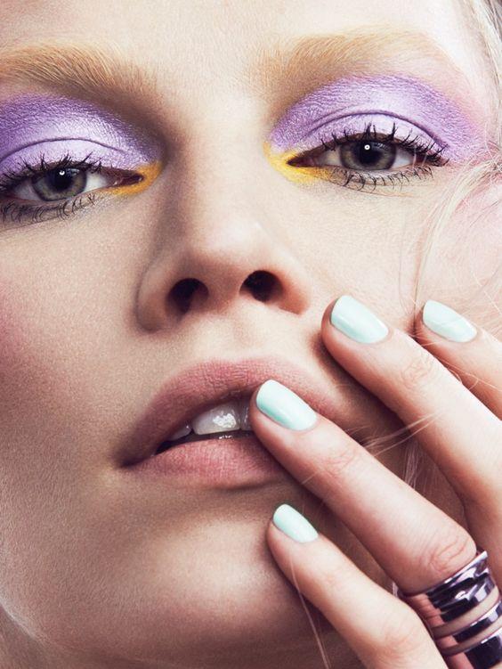 Aline Weber | Pastel Makeup Ideas Editorial | Vogue Mexico