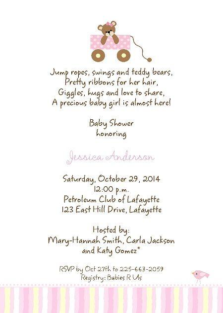 baby shower invitation wording – Baby Shower Invitation Words