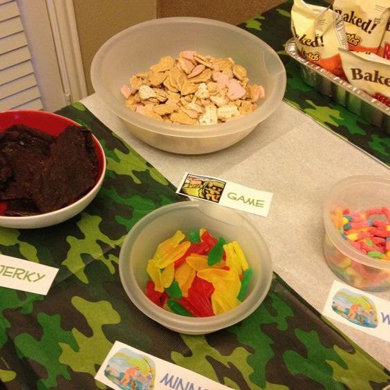 Hunting Theme Party: Beef Jerky Animal Crackers (game