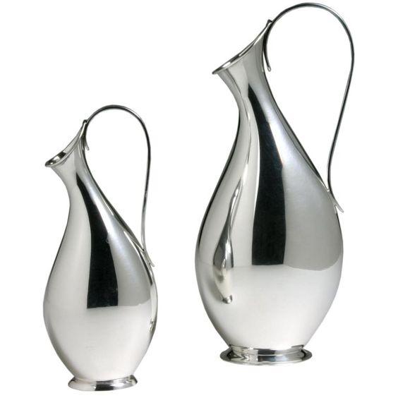Danish Sterling Silver Vases