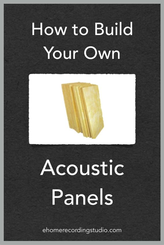 Groovy How To Build Your Own Acoustic Panels Ehomerecordingstudio Largest Home Design Picture Inspirations Pitcheantrous