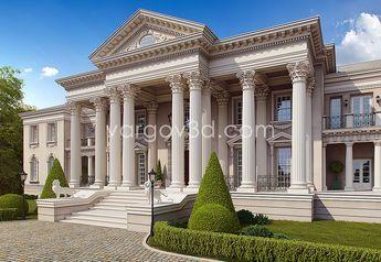 Roman Style Palace Roman House Classic House Design House Front Design