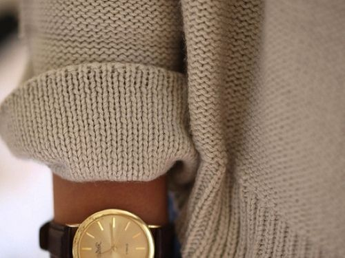 knit + gold {love this combination}.. I need a fancy watch: