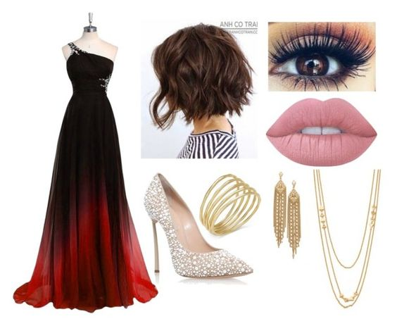 """""""Untitled #22"""" by mayabd on Polyvore featuring Lauren Ralph Lauren, Casadei, Capwell + Co, Gorjana and Lime Crime"""