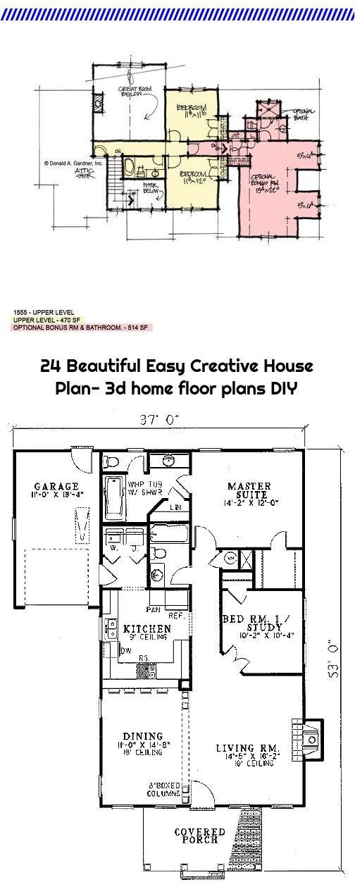 24 Beautiful Easy Creative House Plan 3d Home Floor Plans Diy House Floor Plans House Plans Floor Plans
