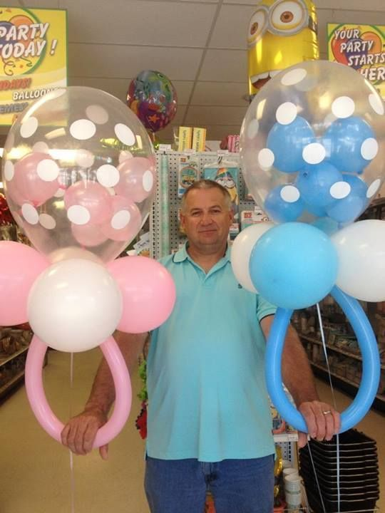 Pacifier balloons events baby shower pinterest the
