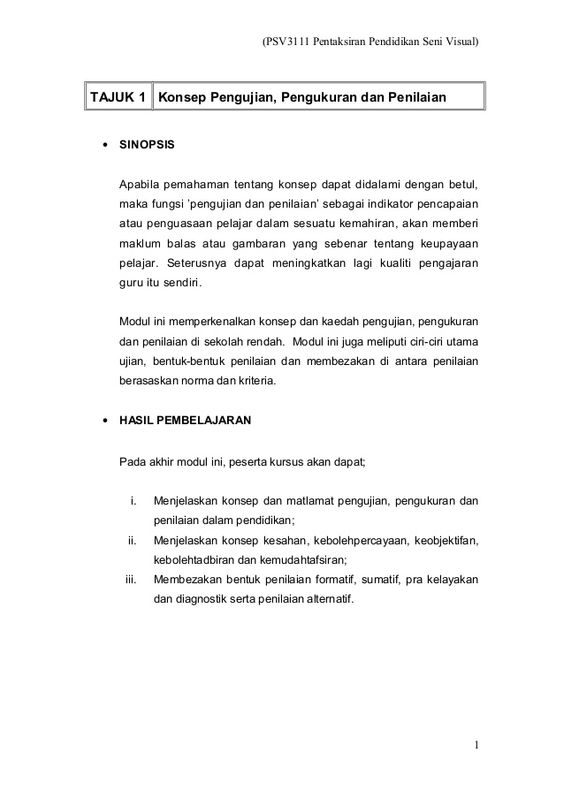 PSV3111 Pentaksiran Pendidikan Seni Visual) TAJUK 1 Konsep - sponsorship agreement
