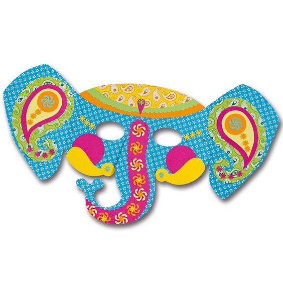 Maske Elefant, Kostüm Elefant | Du willst Dich als Elefant verkleiden? Diese lustige Gesichtsmaske kann kinderleicht bemalt werden: http://www.trendmarkt24.de/kindermasken-elefant-6er-pack.html#p