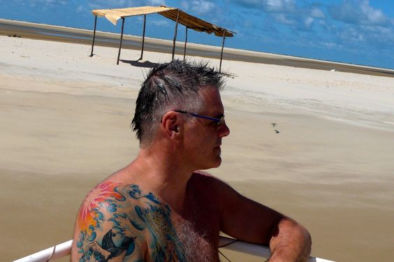 ilha dos nanorados island, Brazil - Dan Trepanier contemplating life - Photo by Ernani Oliveira