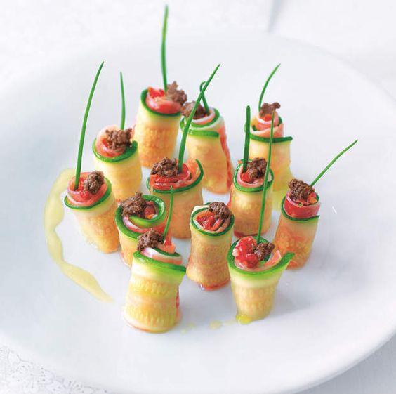Makis de légumes au jambon de paysVoir la recette des makis de légumes au jambon de pays