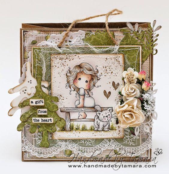 Handmade by Tamara: Leo Tilda gift bag