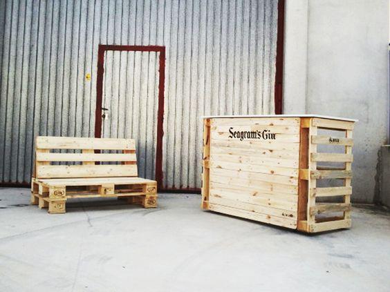 Mobiliario realizado con palets recicla - Mobiliario con palets ...