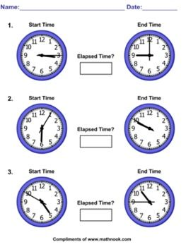 This elapsed time worksheet pack contains 6 total worksheets ...