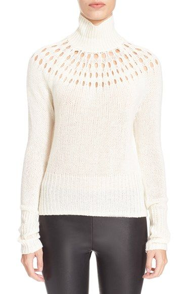 Tamara Mellon Wool & Cashmere Turtleneck Sweater available at #Nordstrom
