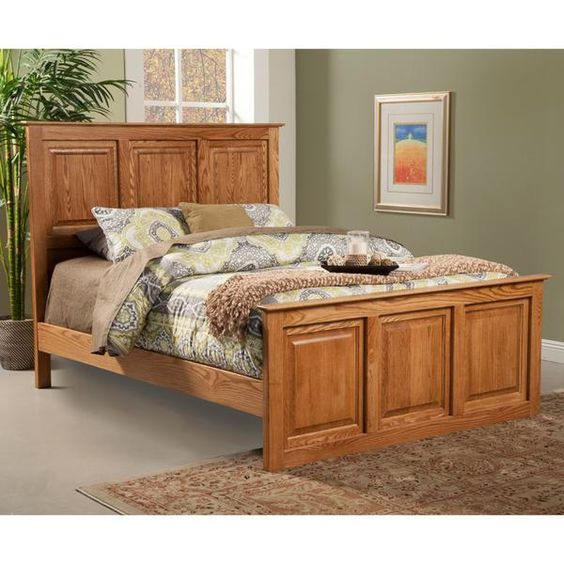 OD-O-T466-F - Traditional Oak Raised Panel Bed - Full Size (Queen…