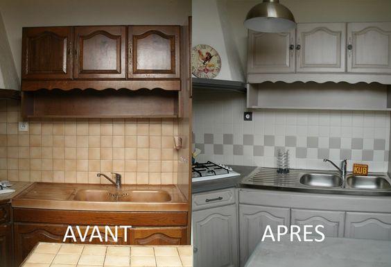 Rénover une cuisine  comment repeindre une cuisine en chêne