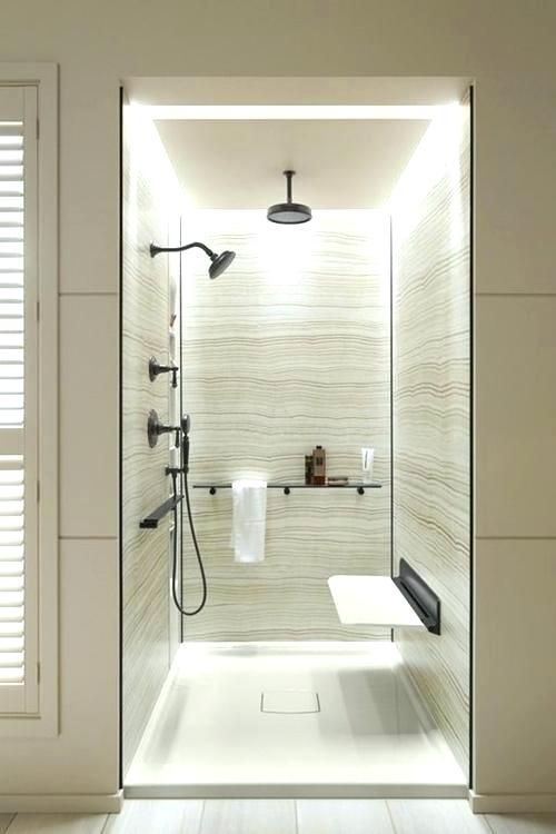Walk In Shower With Seat Ideas On A Budget And Elderly Friendly Bathroom Shower Design Bathroom Interior Modern Bathroom