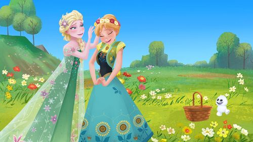 花畑アナと雪の女王