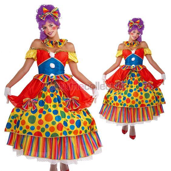 Belle Fancy Dress Funny Clown Costume