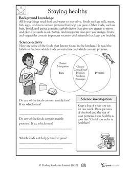 Printables 3rd Grade Health Worksheets our 5 favorite prek math worksheets safety precautions in this science worksheet your child learns about fats and proteins identifies common foods that have fat protein grade