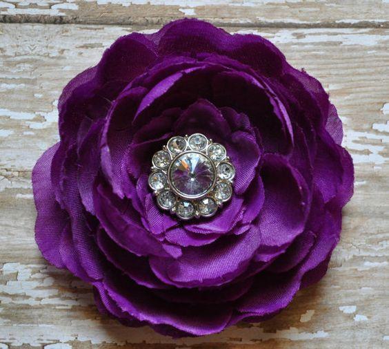 Purple Ranunculus Hair Clip
