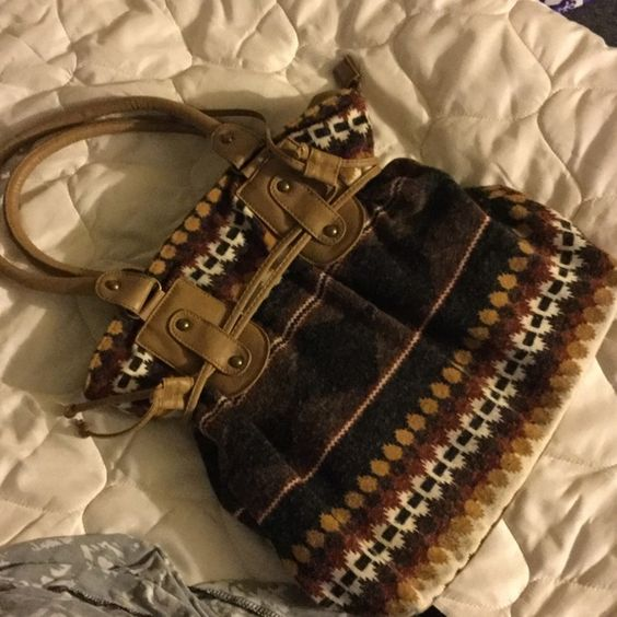 Shoulder bag Tribal shoulder bag. Large and easily ands texture to a blah outfit.  Urban Outfitters Bags Shoulder Bags