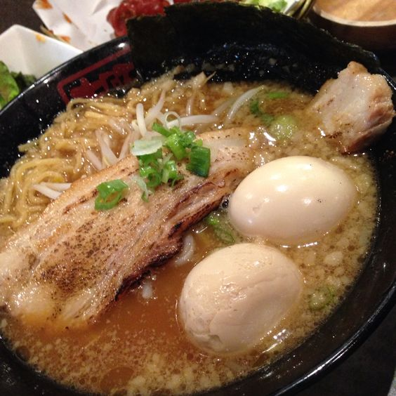 Pork belly with 2 eggs @ kinton ramen