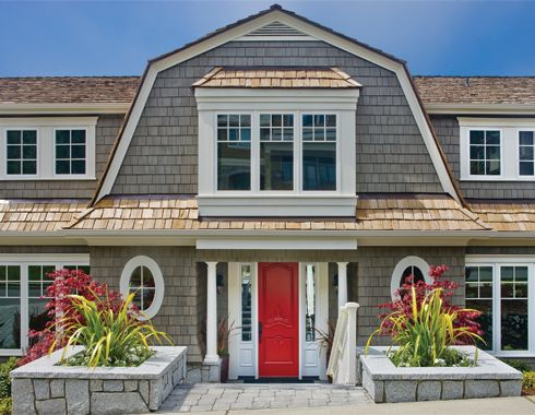 Cape cod shingle style home by gelotte hommas with a red for Shingle style siding