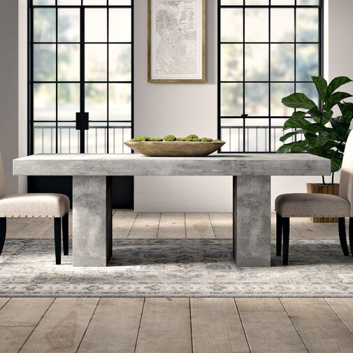Greyleigh Clinchport Dining Table Reviews Wayfair Dining Table In Kitchen Concrete Dining Table Steel Dining Table