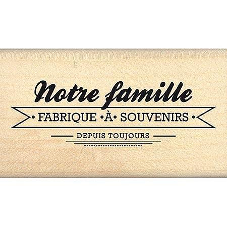 citations scrapbooking border line tampon bois fabrique souvenirs 6 2 x 2 2 cm. Black Bedroom Furniture Sets. Home Design Ideas