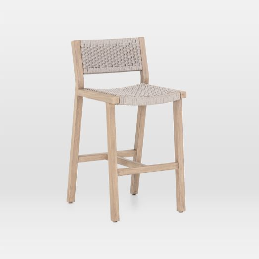 Teak Wood Rope Outdoor Bar Stool Outdoor Bar Stools Outdoor