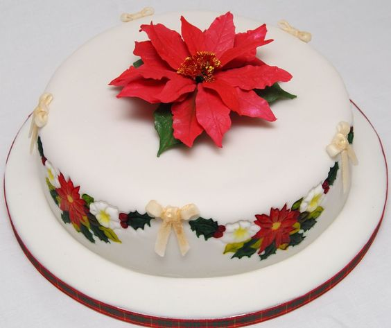 Christmas Cake Decorations Flowers: ... Fruit Christmas Cake With