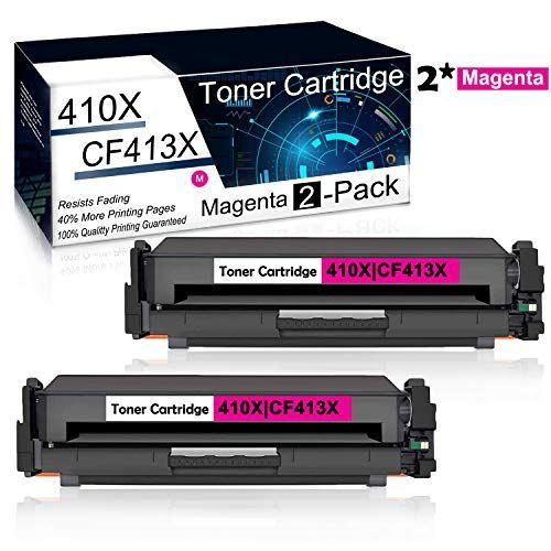 2pk Set Magenta Compatible 410x Cf413x Toner Cartridge Used For Hp Color Laserjet Pro M477fnw Mfp M477fdn M477fdw M452nw M452dn