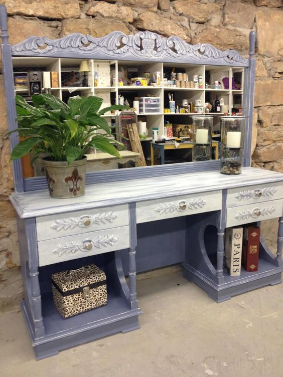 La Craie Furniture Paint | Bayou Blue I would love this piece...
