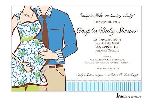 Expecting Boy Invitation | Zurianas Elegant Occasions #baby #babyshower #boy #couplesshower