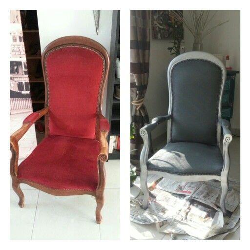 diy r novation fauteuil voltaire peinture fauteuils pinterest bricolage. Black Bedroom Furniture Sets. Home Design Ideas