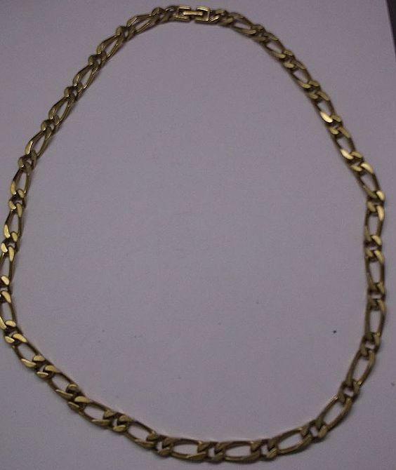"Monet 26"" Gold Tone Flat Heavy Figaro Chain Necklace"