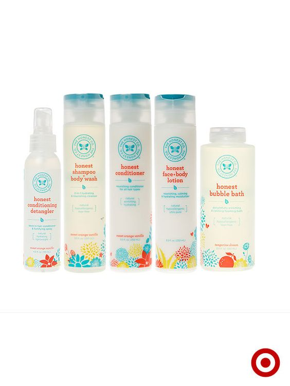 The Honest Company premium bath products are gentle and non-toxic, safe for the entire family.
