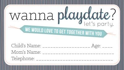 Free Printable Playdate Calling Cards Boy Or Girl Organization