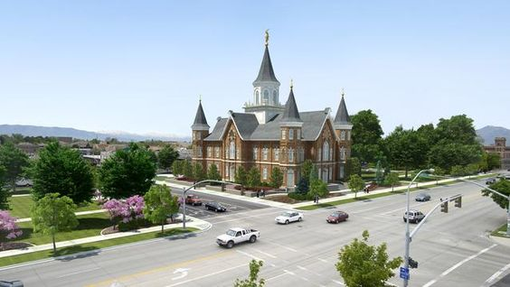 New Provo Temple concept art.