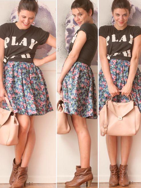 Eu Crio Moda: Usando o vestido como saia!