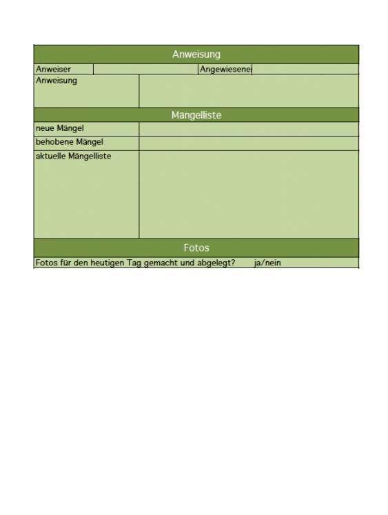 Wunderschon Baustellenbericht Vorlage Vorlagen Buchhaltungssoftware Vorlagen Word