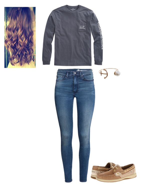 """""""Back To School: Preppy"""" by meredith-gomes ❤ liked on Polyvore featuring Vineyard Vines, H&M, Sperry, Humble Chic, BackToSchool and backtoschoolwithmer"""