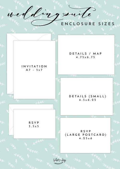 Invitation Enclosure Card Sizes