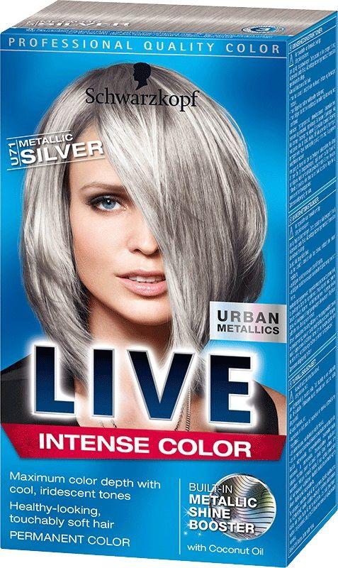 Schwarzkopf Live Color U71 Metallic Silver Grey Hair Dye Silver