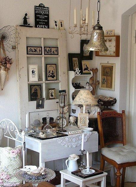 Old Door used to showcase treasures home vintage white decorate door recycle repurpose design ideas interior design