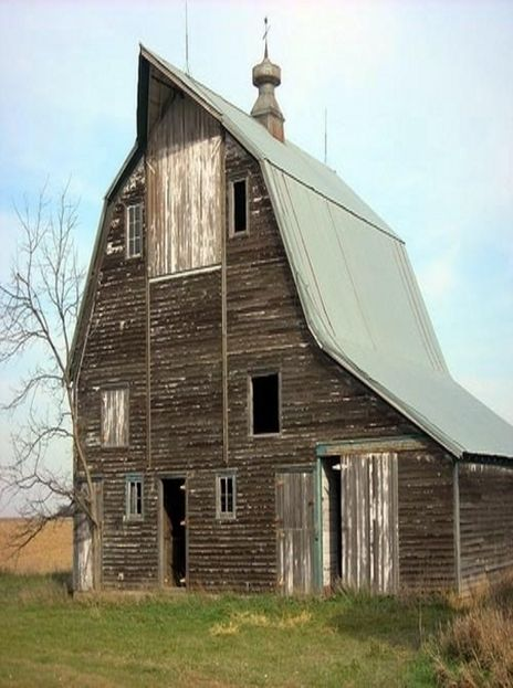 Interesting shaped barn.