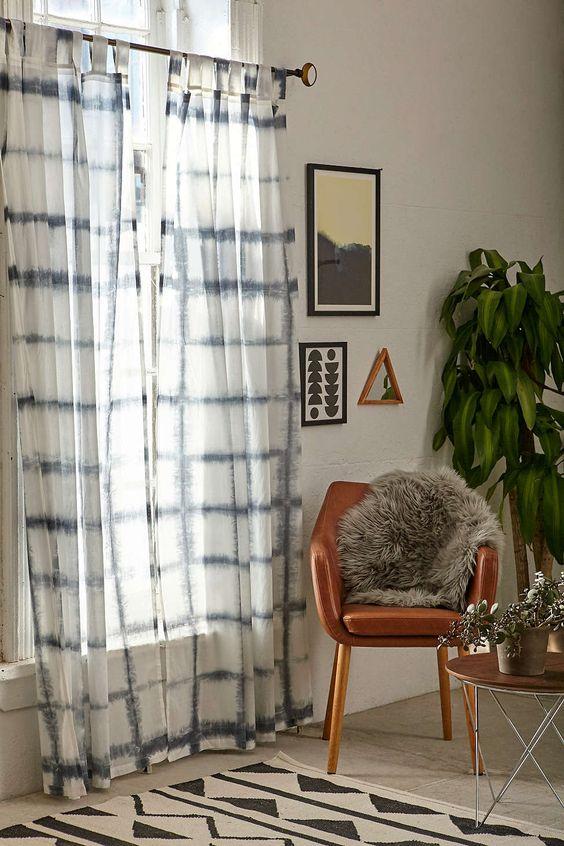 Curtains Ideas accordion curtain : 4040 Locust Accordion Indigo Dye Curtain | Urban outfitters ...
